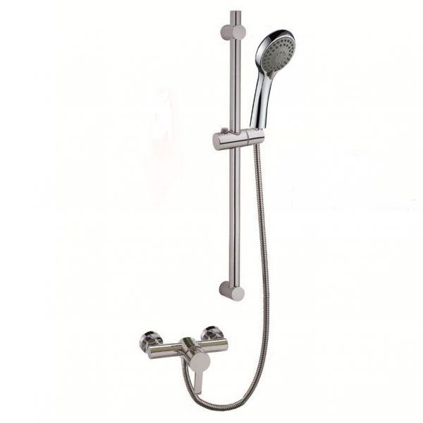 3 Way Hand Shower Chrome Slide Rail Brass Shower Mixer
