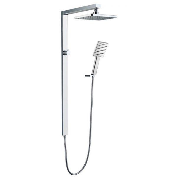 12 Inches Rain Shower Brass Square Shower Column