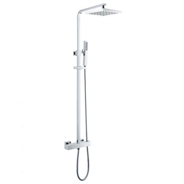 Thermostatic Exposed Bar Shower with Rigid Riser and Integral Diverter to Handset