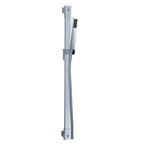 1 Function Shower Head Stainless Steel Flat Tube Slide Shower Rail