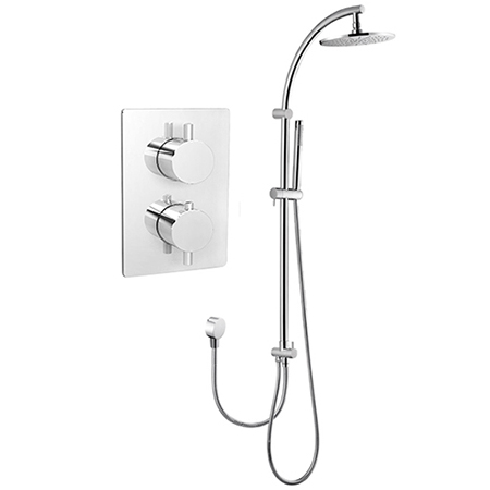 Concealed In Wall Thermostatic Mixing Shower Valve Shower Pole