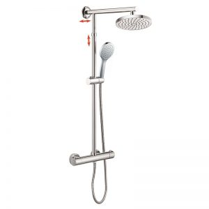 Adjustable Sliding Rigid Riser Thermostatic Shower