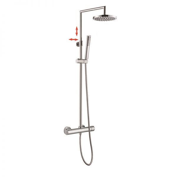 Euro Standard 5 Way Hand Shower Thermostatic Valve Shower Set