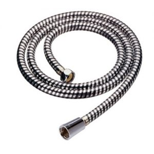 PVC Material Silver & Black Smooth shower Hose