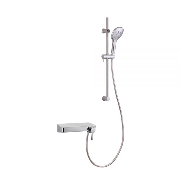 Sliding Shower Rail Shower Faucet with Shelf